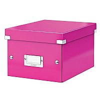 Leitz WOW Click and Store Small Storage Box For A5 Pink Ref 60430023