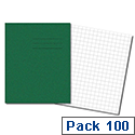 Cambridge Exercise Book 75gsm 48 Pages 203x165mm Dark Green Ref 100102102 Pack 100