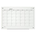 Nobo Glass Magnetic Calendar Board With Fixings and Pen Tray 600x900mm Ref 1903882
