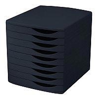 5 Star Elite Desktop Drawer Set 9 Drawers A4 and Foolscap Black/ Black Ref 8344100-11450