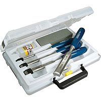 Stanley 4 Piece Chisel Set and Sharpening Kit with Storage Box