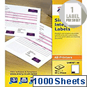 Avery Integrated Single Label Sheet 96x64mm White (1000 Sheets)