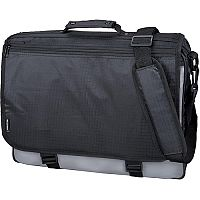 LightPak Wave Messenger Laptop Bag Polyester Black/Grey