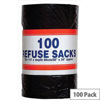 Robinson Young Big Value Refuse Sacks 737x864mm Ref RY00365 [Pack of 100]
