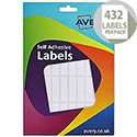 Avery Wallet of Labels 12x44mm White (432 Labels)