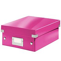 Leitz WOW Click and Store Organiser Box Medium Pink Ref 60580023