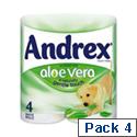 Andrex Toilet Rolls 2-Ply 240 Sheets Aloe Vera Ref M02073 [Pack 4]