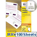 Avery Integrated Double Label Sheet 100x45mm White (100 Labels)