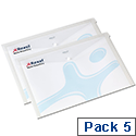 Rexel Popper Wallet Folder Polypropylene A3 Translucent White Ref 16131WH [Pack 5]