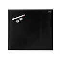 Nobo Diamond Drywipe Board Magnetic 300x300mm Black Ref 1903950