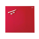 Nobo Diamond Drywipe Board Magnetic 450x450mm Red Ref 1903955