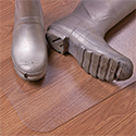 Hometex Biosafe Hard Floor Protection Mat Anti-Microbial PVC 1200x750mm Clear Ref FCHMCH12075EV