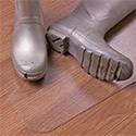 Hometex Biosafe Hard Floor Protection Mat Anti-Microbial PVC 1200x750mm Clear Ref FCHMCH12075EV