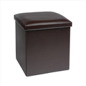 Foldable Ottoman 400x400mm Brown Ref MS-OT1