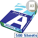 Double A A3 80gsm White Premium Copier Paper Ream of 500 Sheets 3613630000134