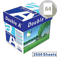 Double A A4 80gsm White Premium Copier Paper Box of 2500 Sheets