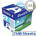 Double A A4 80gsm White Premium Copier Paper Box of 2500 Sheets
