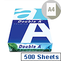 Double A A4 75gsm White Premium Multifunctional Copier Paper Ream of 500 Sheets