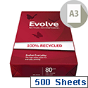 A3 Evolve Everyday Paper Recycled Ream-Wrapped 80gsm White Ref EVOL80A3 500 Sheets