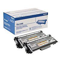 Brother TN-3390 Black Exta High Yield Laser Toner Cartridge Twin Pack TN3390