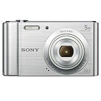 Sony DSC-W800 Digital Camera Kit 2.7in LCD 5x Zoom 20.1MP Silver Ref SON2463