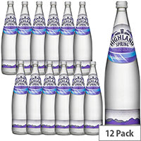 Highland Spring Still Mineral Water 1L Glass Water Ref 390011 Pack 12