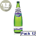 Highland Spring Sparkling Mineral Water 1L Glass Bottes Ref 390009 Pack 12