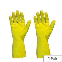 Rubber Gloves Multi Purpose Yellow Rubber Gloves Medium Pair