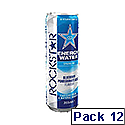 Rockstar Energy Water Blueberry Pomegranate Acai Can 355ml (Pack 12)