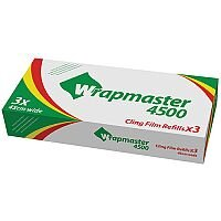 Wrapmaster 4500 Cling Film Refill Rolls Pack of 3 Rolls Ref H01755
