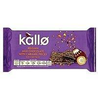 Kallo Gluten-free Rice Cake Thins Milk Chocolate and Caramel 90g Ref A07899
