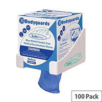 Polyco Medical Gloves Powder-free Seamless Nitrile Smal Blue [Pack 100] Ref GL8931