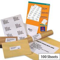 Avery White Copier Labels 10 per Sheet 105x57mm White 1000 Labels Ref 3425