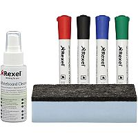 Rexel Whiteboard Cleaning Kit  Assorted Colours
