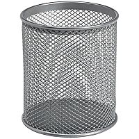 Wire Mesh Pencil Holder - Silver