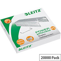 Leitz 25/10 Steel Staples  Pack of 1000  for Leitz Heavy Duty Flat Clinch 5552 Stapler