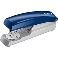 Leitz 5500 Metal Stapler  Metallic Blue  30 Sheets of 80g/m2 Paper
