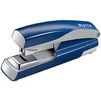 Leitz 5523 Metal Stapler  Metallic Blue  40 Sheets of 80gsm Paper