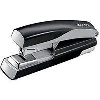 Leitz 5523 Metal Stapler  Metallic Black  40 Sheets of 80gsm Paper