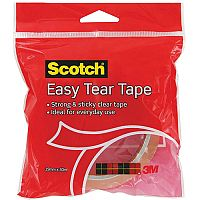 Scotch Easy Tear Clear Adhesive Tape 19mmx30m  Pack of 1 Roll
