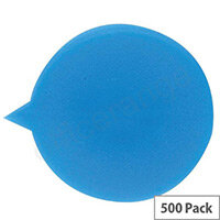 Security Seals Plain Round Blue (Pack 500)