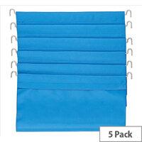 File Wallets Blue  Pack of 5  for MT2/MT3 Trolley Baskets