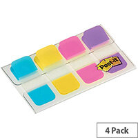 Post-it  4 x 10mm  Strong Index Flags Repositionable Durable Writable  1 x Pack of 40