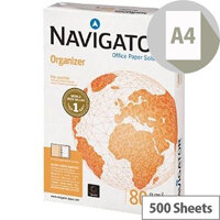 Navigator  A4  Organizer Paper 80gsm Punched 2 Holes  Pack of 500 Sheets