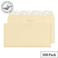 Blake Cream Premium Business DL Laid Wallet Envelopes Vellum 120gsm Pack of 500