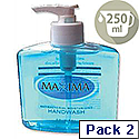 Maxima Hand Wash Liquid Soap Anti-Bacterial 250ml Ref VCWMAS Pack 2 128857
