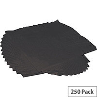 Luxury Cocktail Paper Napkins 2-Ply Tissue 250x250mm (Pack 250) Black