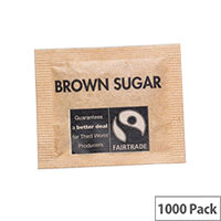 Fairtrade Sugar Sachets Brown Demerara A03621 Pack 1000