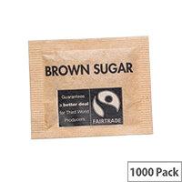 Fairtrade Sugar Sachets Brown Demerara A03621 Pack 1000