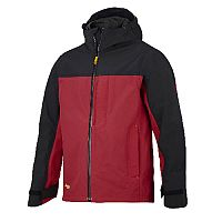 Snickers 1303 AllroundWork Waterproof Shell Jacket Red/Black